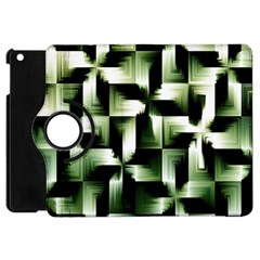 Green Black And White Abstract Background Of Squares Apple iPad Mini Flip 360 Case