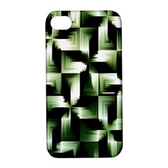 Green Black And White Abstract Background Of Squares Apple iPhone 4/4S Hardshell Case with Stand