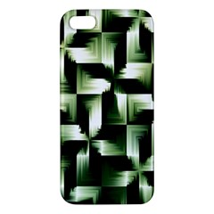 Green Black And White Abstract Background Of Squares Apple iPhone 5 Premium Hardshell Case