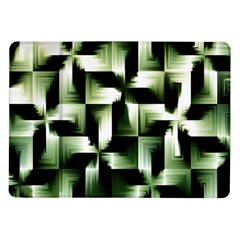 Green Black And White Abstract Background Of Squares Samsung Galaxy Tab 10 1  P7500 Flip Case
