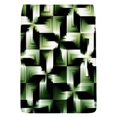 Green Black And White Abstract Background Of Squares Flap Covers (S)