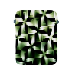 Green Black And White Abstract Background Of Squares Apple iPad 2/3/4 Protective Soft Cases
