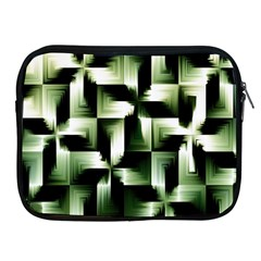 Green Black And White Abstract Background Of Squares Apple iPad 2/3/4 Zipper Cases