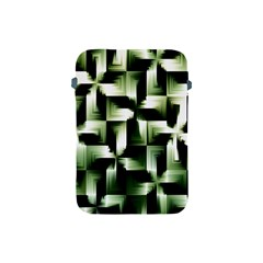 Green Black And White Abstract Background Of Squares Apple iPad Mini Protective Soft Cases
