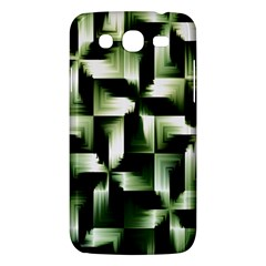 Green Black And White Abstract Background Of Squares Samsung Galaxy Mega 5.8 I9152 Hardshell Case