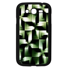 Green Black And White Abstract Background Of Squares Samsung Galaxy Grand DUOS I9082 Case (Black)