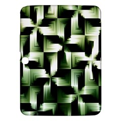 Green Black And White Abstract Background Of Squares Samsung Galaxy Tab 3 (10.1 ) P5200 Hardshell Case
