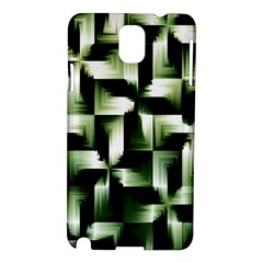 Green Black And White Abstract Background Of Squares Samsung Galaxy Note 3 N9005 Hardshell Case