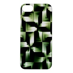 Green Black And White Abstract Background Of Squares Apple Iphone 5s/ Se Hardshell Case