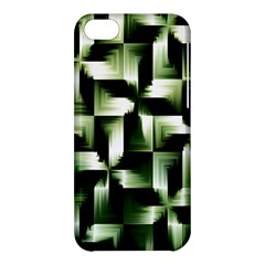 Green Black And White Abstract Background Of Squares Apple iPhone 5C Hardshell Case