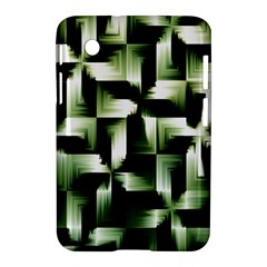 Green Black And White Abstract Background Of Squares Samsung Galaxy Tab 2 (7 ) P3100 Hardshell Case