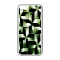 Green Black And White Abstract Background Of Squares Apple iPhone 5C Seamless Case (White)