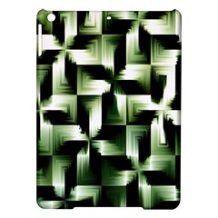 Green Black And White Abstract Background Of Squares iPad Air Hardshell Cases