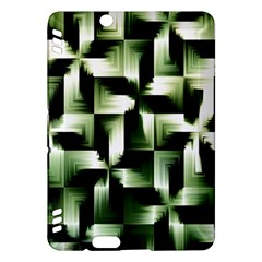 Green Black And White Abstract Background Of Squares Kindle Fire HDX Hardshell Case