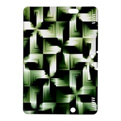 Green Black And White Abstract Background Of Squares Kindle Fire HDX 8.9  Hardshell Case