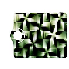 Green Black And White Abstract Background Of Squares Kindle Fire HDX 8.9  Flip 360 Case