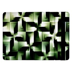 Green Black And White Abstract Background Of Squares Samsung Galaxy Tab Pro 12.2  Flip Case