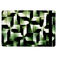Green Black And White Abstract Background Of Squares Ipad Air Flip