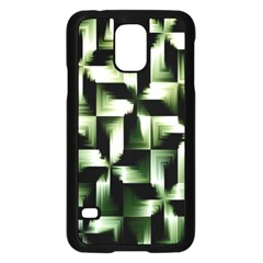 Green Black And White Abstract Background Of Squares Samsung Galaxy S5 Case (Black)