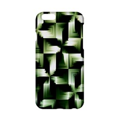 Green Black And White Abstract Background Of Squares Apple iPhone 6/6S Hardshell Case