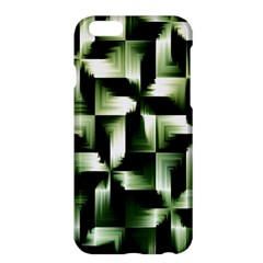 Green Black And White Abstract Background Of Squares Apple iPhone 6 Plus/6S Plus Hardshell Case