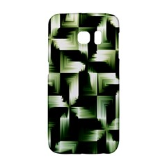 Green Black And White Abstract Background Of Squares Galaxy S6 Edge
