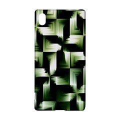Green Black And White Abstract Background Of Squares Sony Xperia Z3+