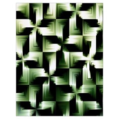 Green Black And White Abstract Background Of Squares Drawstring Bag (large)