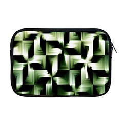Green Black And White Abstract Background Of Squares Apple Macbook Pro 17  Zipper Case