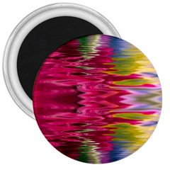 Abstract Pink Colorful Water Background 3  Magnets