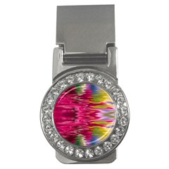Abstract Pink Colorful Water Background Money Clips (CZ)