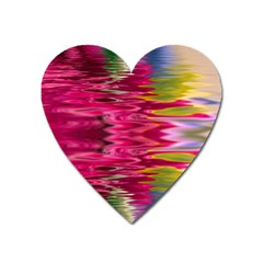 Abstract Pink Colorful Water Background Heart Magnet