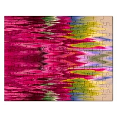 Abstract Pink Colorful Water Background Rectangular Jigsaw Puzzl