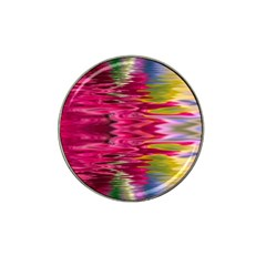 Abstract Pink Colorful Water Background Hat Clip Ball Marker