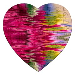 Abstract Pink Colorful Water Background Jigsaw Puzzle (heart)