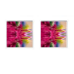 Abstract Pink Colorful Water Background Cufflinks (square)