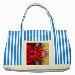 Abstract Pink Colorful Water Background Striped Blue Tote Bag
