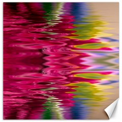 Abstract Pink Colorful Water Background Canvas 16  X 16