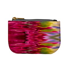 Abstract Pink Colorful Water Background Mini Coin Purses