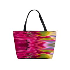 Abstract Pink Colorful Water Background Shoulder Handbags
