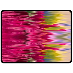 Abstract Pink Colorful Water Background Fleece Blanket (Large)