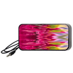 Abstract Pink Colorful Water Background Portable Speaker (black)