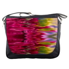 Abstract Pink Colorful Water Background Messenger Bags
