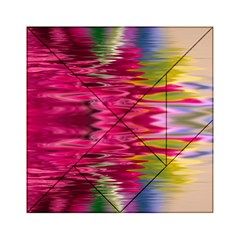 Abstract Pink Colorful Water Background Acrylic Tangram Puzzle (6  x 6 )