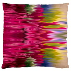 Abstract Pink Colorful Water Background Large Cushion Case (Two Sides)