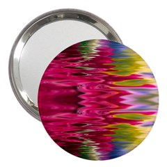 Abstract Pink Colorful Water Background 3  Handbag Mirrors