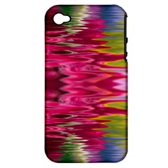 Abstract Pink Colorful Water Background Apple Iphone 4/4s Hardshell Case (pc+silicone)