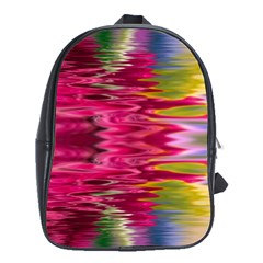 Abstract Pink Colorful Water Background School Bags (XL)
