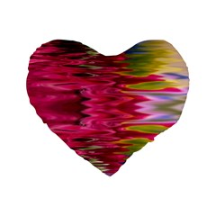 Abstract Pink Colorful Water Background Standard 16  Premium Heart Shape Cushions