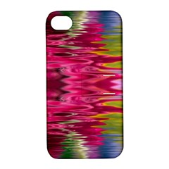 Abstract Pink Colorful Water Background Apple iPhone 4/4S Hardshell Case with Stand